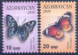 AZ 2010-785-6 BUTTERFLY, ASERBEDIAN, 1 X 2v, MNH - Aserbaidschan