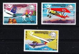 Khmere - 1975. Aerei Antichi E Moderni; Concorde. Ancient And Modern Aircraft. MNH - Aerei