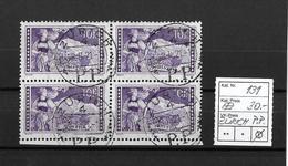 1914-1931 GEBIRGSLANDSCHAFTEN → Jungfrau  ►SBK-131 Viererblock Zürich◄ - Gebraucht