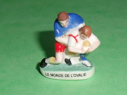 """Fèves / Sports : Rugby , Le Monde De L'ovalie  """" Mat Et Brillant """"      T13 - Sports"""