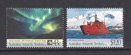 AUSTRALIA 1991 AUSTRALIAN ANTARCTIC TERRITORY AAT 30TH ANNIVERSARY TREATY AURORA AUSTRALIS NHM SG 88-89 SHIPS - Australian Antarctic Territory (AAT)