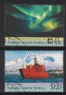AUSTRALIA 1991 AUSTRALIAN ANTARCTIC TERRITORY AAT 30TH ANNIVERSARY TREATY AURORA AUSTRALIS USED SG 88-89 SHIPS - Schiffe