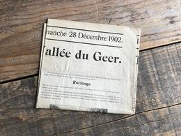 Supplément Spécial Illustré Du Journal De Liège 1902 La Vallée Du GEER Régionalisme Roclenge Glons Bassenge Eben Emael - Culture