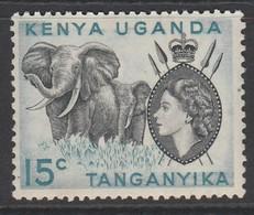 Kenya 1954 Queen Elizabeth II And Landscapes  15c * LMM ( No Dot Under C ) - Kenya, Uganda & Tanganyika