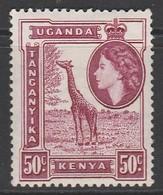 Kenya 1954 Queen Elizabeth II And Landscapes  50c * LMM - Kenya, Uganda & Tanganyika