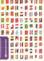 Drapeaux Du Monde  Vignettes De 26 Mm X 30 Mm - Géographie