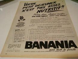 ANCIENNE PUBLICITE VOTRE PETIT DEJEUNER BANANIA 1959 - Posters