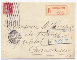 Lettre Adresse Au Marechal Petain En Recommandée D Office 1fr Paix De Boulogne Billancourt Centre Seine - Marcophilie (Lettres)