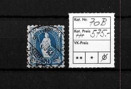 1882-1904 STEHENDE HELVETIA → SBK-70B Basel  ►grobe Zähnung/11 Zähne Senkrecht◄ - Oblitérés