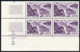 FRANCE AVION 1949 - Yv. PA 26 ** SUP En Bloc De 4 Coin Daté 23.5.49  Cote= 100,00 EUR - Lyon  ..Réf.FRA29016 - Dated Corners