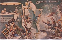 Seltene Sign. Künstler- AK / Arthur Thiele  - Zeppelin Kommt ! -  Ca. 1925 Gedruckt - Thiele, Arthur