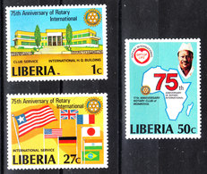 Liberia  -1979. 75^Anniv.Rotary. Building Club, Bandiere. Flags. MNH - Rotary, Lions Club
