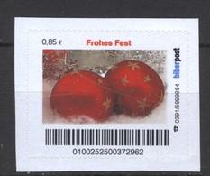 Biber Post  Frohes Fest (rote Kugel) (85)  G645 - [7] Repubblica Federale