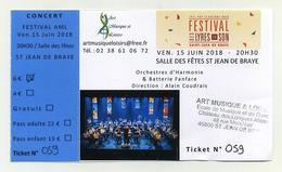 Concert Festival Des Lyres De Son 2018 - Saint Jean De Braye - Ticket Avec Talon - Tickets De Concerts