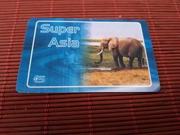 Prepaidcard Elephant  Used  Rare - Belgique