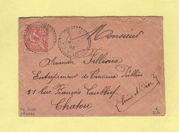 Cromac - Haute Vienne - 7 Mars 1903 - Facteur Boitier 2499 - Marcophilie (Lettres)