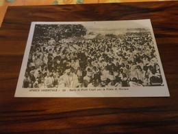 CARTOLINA AFRICA ORIENTALE-BALLO DI PRETI COPTI PER LA FESTA DI MARIAM-SCRITTA NON VIAGGIATA-1940-FORM. PICCOLO - Cartoline