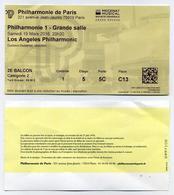 Ticket De Concert Los Angeles Philharmonic à La Philharmonie De Paris - 19 Mars 2016 - Tickets De Concerts