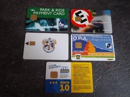 LOT 5 CARTES STATIONNEMENT PARKING A PUCE PAYS DIVERS T.B.E !!! - Phonecards