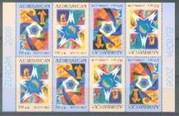AZ 2006-638-9 EUROPA CEPT, ASERBEDIAN, BLATT, MNH - Azerbeidzjan