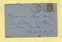 Chatelain - Mayenne - 23-8-1926 - Facteur Boitier 1675 - Cachets Manuels