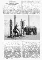 """LE VELOGRAPHE  """" APPAREIL D'ENREGISTREMENT AUTOMATIQUE  DES VITESSES VELOCIPEDIQUES """"  1894 - Transports"""