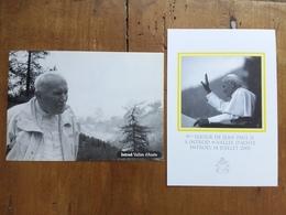 REPUBBLICA - Soggiorno Papa Giovanni Paolo II In Valle D'Aosta - Luglio 2001 - 2 Cartoline + Spese Postali - 6. 1946-.. Repubblica