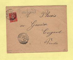 Coron - Maine Et Loire - 19-10-1911 - Facteur Boitier 1553 - Cachets Manuels