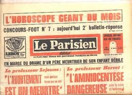 LE PARISIEN N° 8440 Du 20/10/1971 Avec Oneshot POPEYE . - Politique