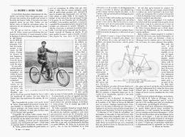 "LA MACHINE à COURIR "" VALERE ""   1894 - Transports"