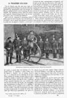 LA VELOCIPEDIE Sur RAIL   1894 - Transports