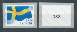 Sweden 2018. Facit # 3245a. The Swedish Flag, Set Of 1 Coil With # On Back). MNH (**) - Unused Stamps