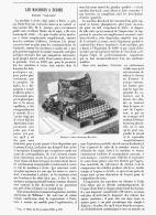 """LES MACHINES à ECRIRE """" BAR-LOCK """" 1894 - Sciences & Technique"""