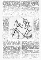 "NOUVEL APPAREIL VELOCIPEDIQUE   "" LA QUADRIMOTIVE O'KEENAN ""   1894 - Transportation"
