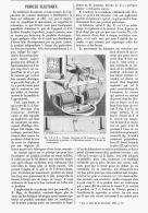 PENDULE ELECTRIQUE De  M. CAUDERAY   1894 - Sciences & Technique