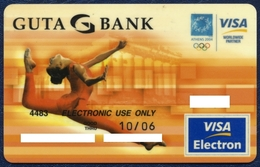 RUSSIA - RUSSIE - RUSSLAND GUTA BANK VISA ELECTRON BANK CARD SUMMER OLYMPIC GAMES ATHENS 2004 GREECE PERFECT CONDITION - Geldkarten (Ablauf Min. 10 Jahre)
