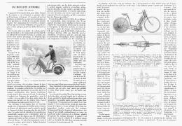UNE BICYCLETTE  AUTOMOBILE à MOTEUR De GAZOLINE  ( MOTO ) 1894 - Transports