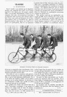 """VELOCIPEDIE :  La  """"  QUADRUPLETTE """"  1894 - Transports"""