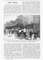 """VOITURE AUTOMOBILE Boulevard MAILLOT à NEUILLY Concours Du """"PETIT JOURNAL"""" VOITURE à PETROLE PEUGEOT  1894 - Transportation"""