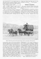 VOYAGE En DILIGEANCE  1894 - Transportation