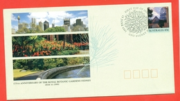 Australia 1991. FDC. Roayl Botanic Gardens Sydney. Envelope With Original Stamp With Special Blanking. - 1990-99 Elizabeth II