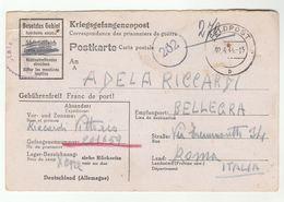 1944 STALAG X-B ITALIAN POW GERMANY To ITALY Prisoner Of War CARD Stationery Italian Censor Cover Forces Wwii Feldpost - 1900-44 Vittorio Emanuele III