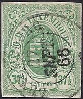 1859: Armoires De L'Etat. 37 1/2 Centimes, Vert : Michel: 10, Cachet Rond Luxembourg (2scans) - 1859-1880 Wappen & Heraldik