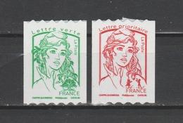 FRANCE / 2016 / Y&T N° AA 1256/1257 ** : Ciappa Adhésifs Sans Grammage (roulettes) TVP LV + LP - Gomme D'origine Intacte - France
