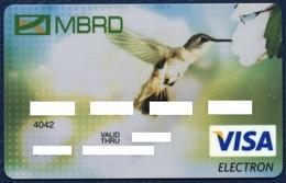 RUSSIA - RUSSIE - RUSSLAND MOSCOW BANK FOR RECONSTRUCTION AND DEVELOPMENT VISA ELECTRON CARD FAUNA BIRD HUMMINGBIRD - Geldkarten (Ablauf Min. 10 Jahre)