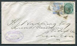 1883 India John Davies & Co Calcutta (Squared Circle) Cover - London GB - India (...-1947)