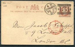 1881 GB Stationery Postcard Ritchie Stationery Merchant, Edinburgh 4 N 131 Duplex - London Wall,London - Briefe U. Dokumente