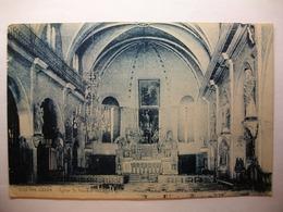 Carte Postale Algérie - Sidi Bel Abbes - Eglise Saint Vincent (Petit Format Noir Et Blanc Oblitération Militaire ) - Sidi-bel-Abbès