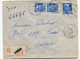 SEINE Et MARNE De LAGNY  Env. Recom. De 1947  Avec Dateur A 4 - Marcophilie (Lettres)