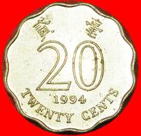 # SCALLOPED TYPE (1993-1998): HONG KONG ★ 20 CENTS 1994 MINT LUSTER! LOW START ★ NO RESERVE! - Hong Kong